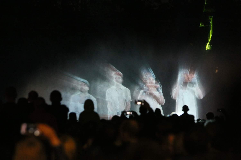 Pokazy przy fontannie w Lublinie